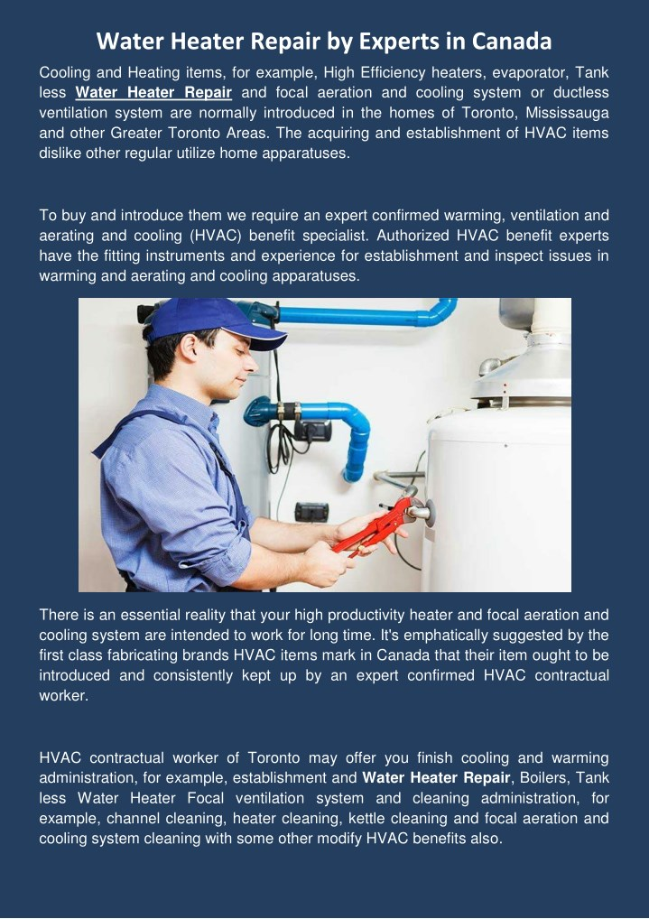water heater repair by experts in canada cooling n.