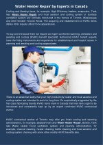 water heater repair by experts in canada cooling