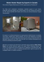 water heater repair by experts in canada
