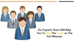 our experts team will help you to pass the exam