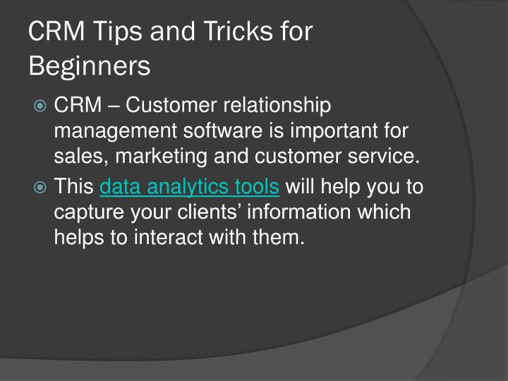 crm tips and tricks for beginners n.