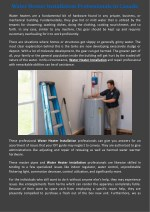 water heater installation professionals in canada
