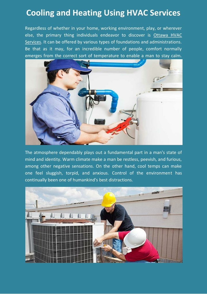 cooling and heating using hvac services n.