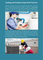 cooling and heating using hvac services
