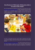 how montessori philosophy of education aids