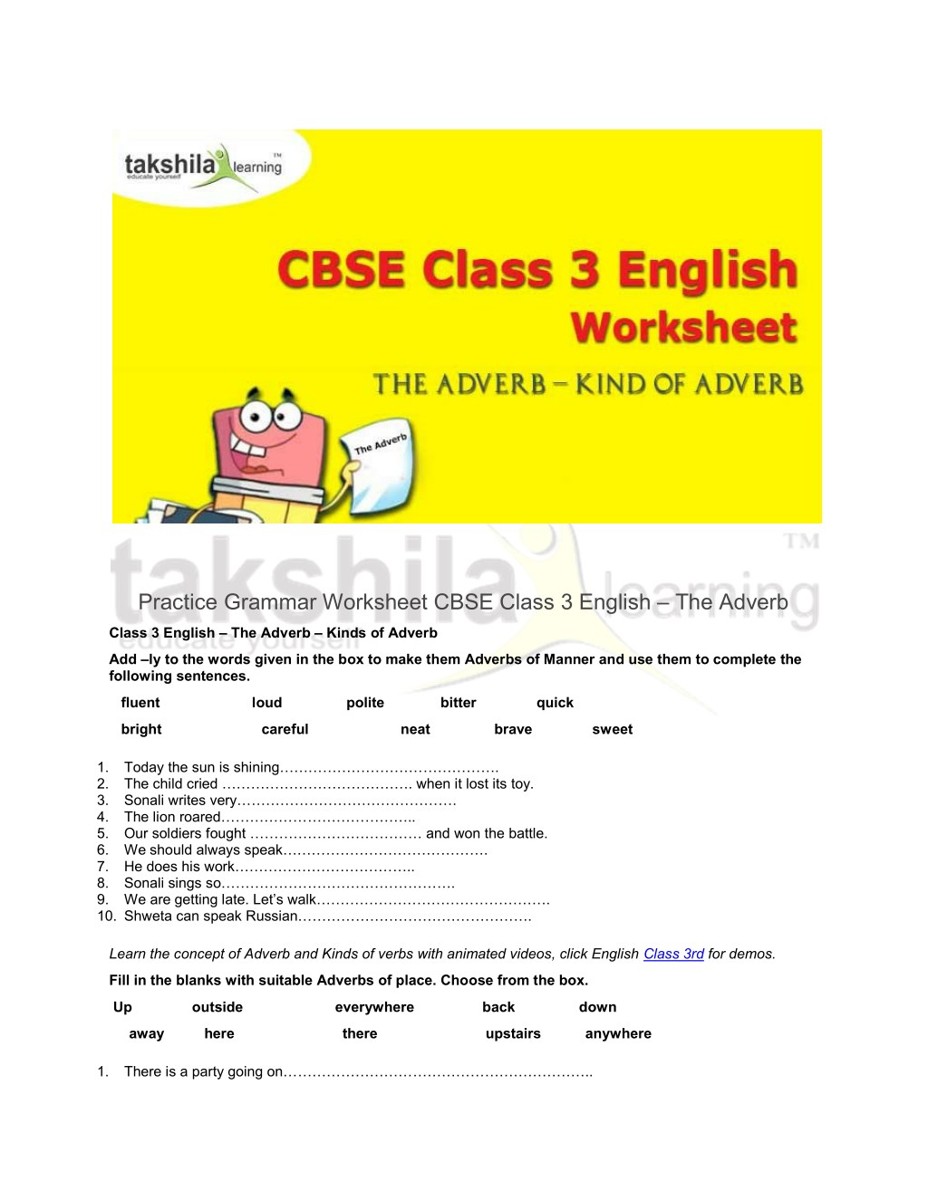 class 3 english grammar
