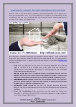 home loans for people with bad credits making