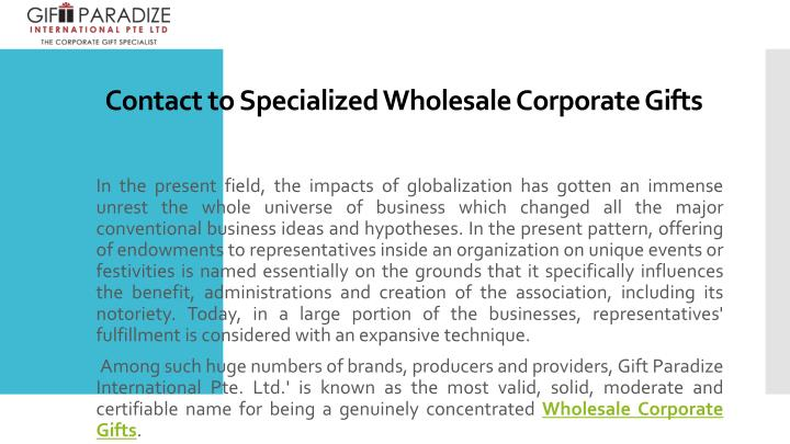 contact to specialized wholesale corporate gifts n.