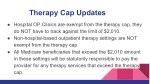 therapy cap updates