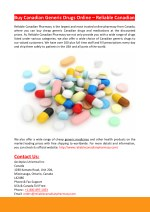 buy canadian generic drugs online reliable