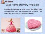 cake home delivery available