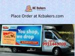 place order at kcbakers com