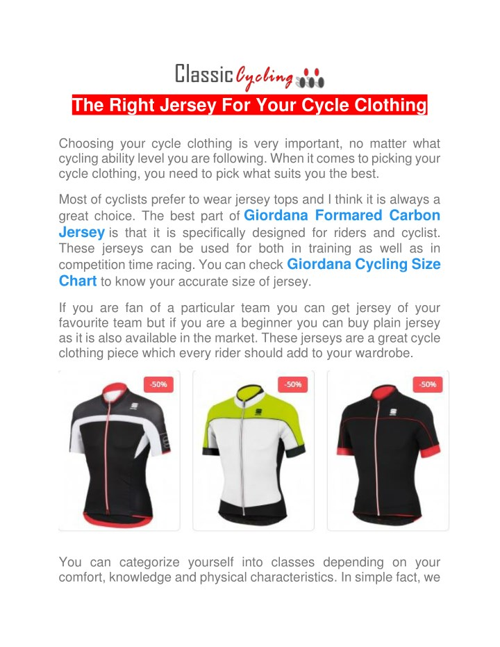 the right jersey for your cycle clothing choosing n.