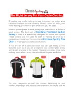 the right jersey for your cycle clothing choosing
