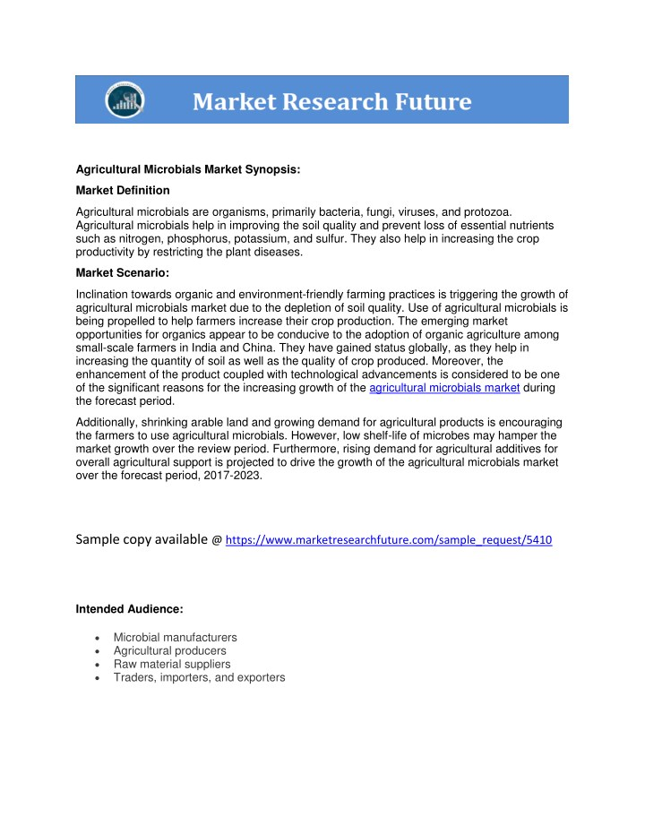 agricultural microbials market synopsis n.