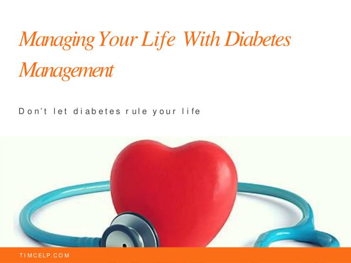 managing your life with diabetes management n.