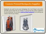custom printed backpacks supplier