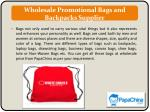 wholesale promotional bags and backpacks supplier