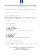 master s program in human resource management