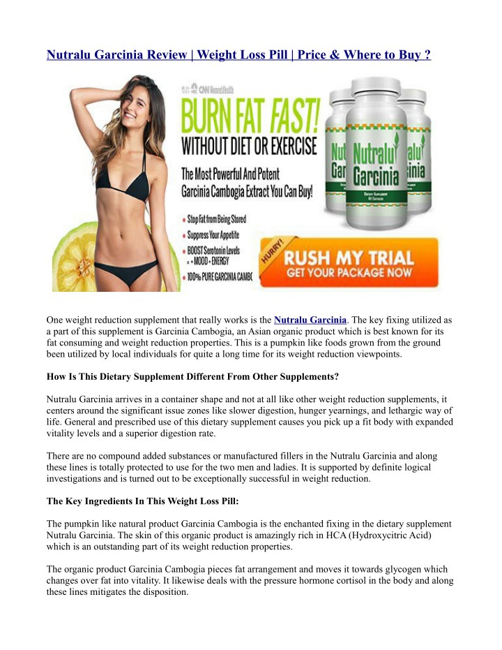 nutralu garcinia review weight loss pill price n.
