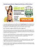 nutralu garcinia review weight loss pill price
