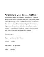 autoimmune liver disease profile 3