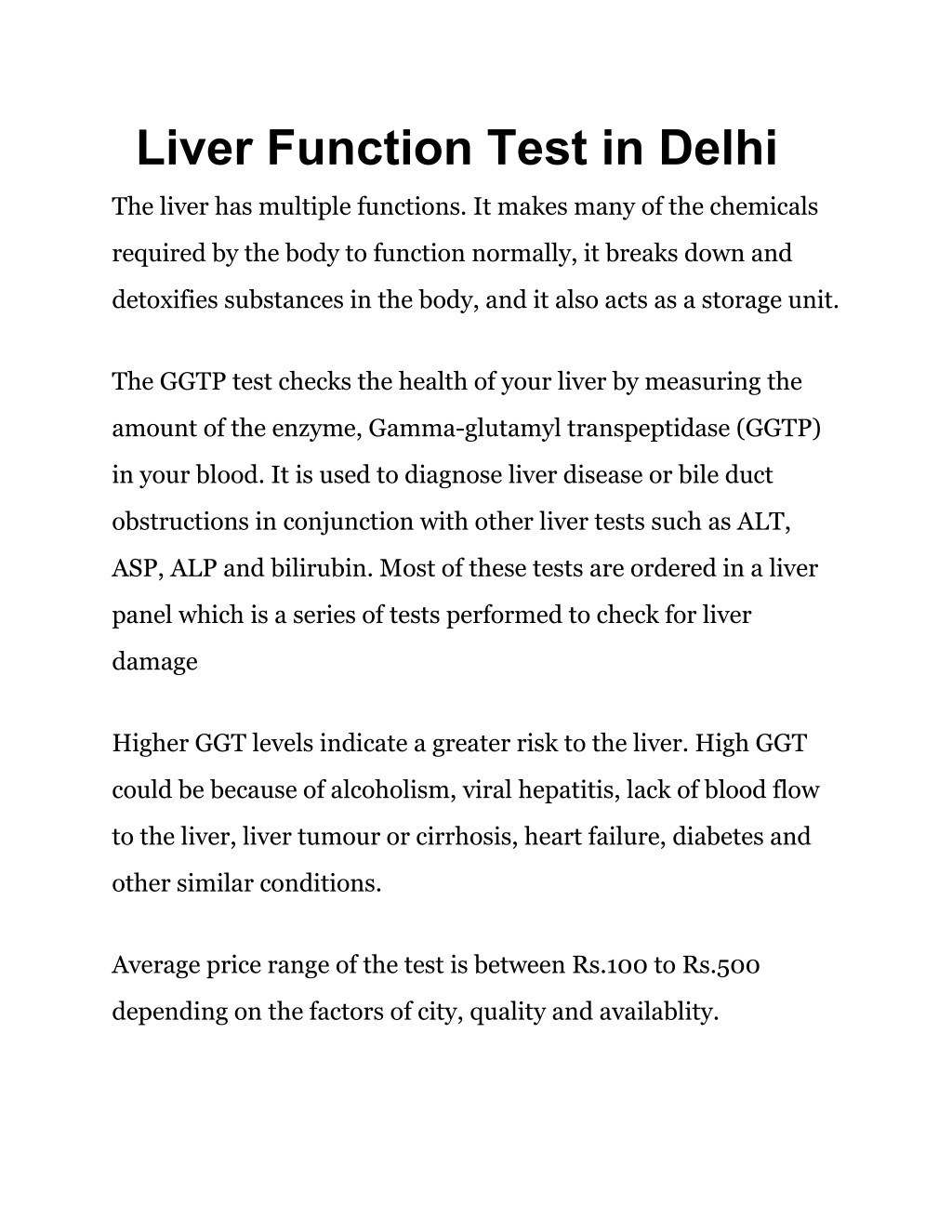 Ppt Liver Function Test In Delhi Powerpoint Presentation Id7793084