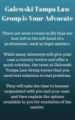 galewski tampa law group is your advocate