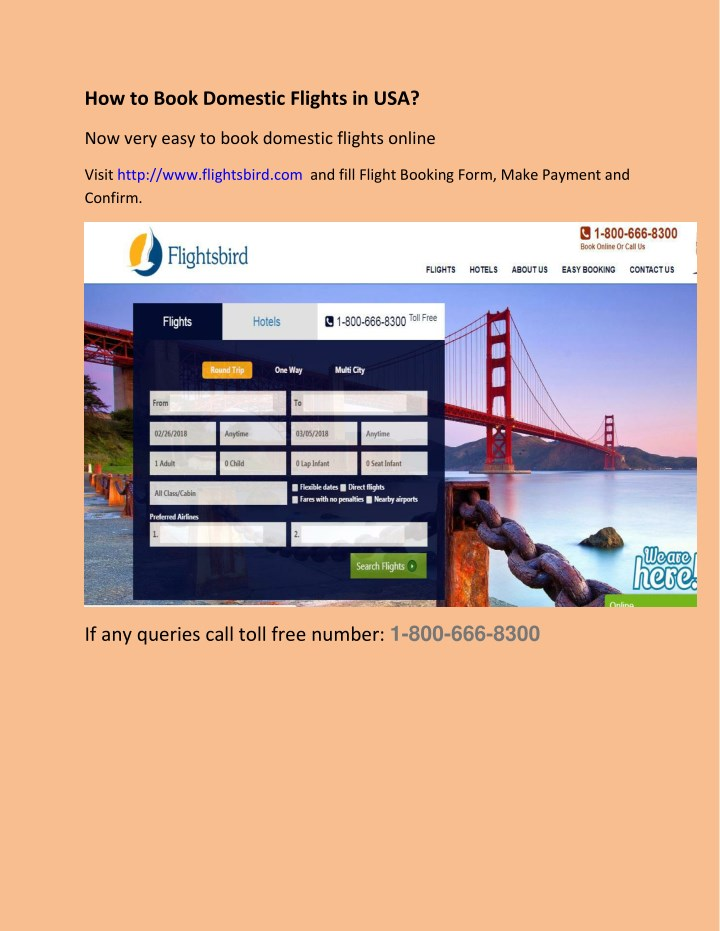 how to book domestic flights in usa n.