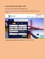 how to book domestic flights in usa