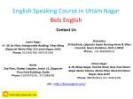 english speaking course in uttam nagar bels 3