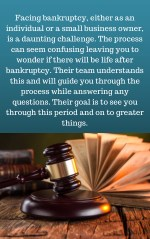 facing bankruptcy either as an individual