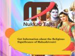 get i nformation about the religious significance of m ahashivratri