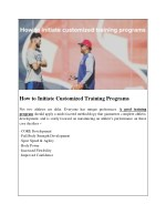 how to initiate customized training programs