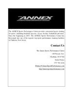 the annex sports performance center provides