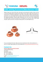 cable jointing accessories manufacturer india