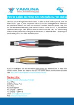 power cable jointing kits manufacturers india