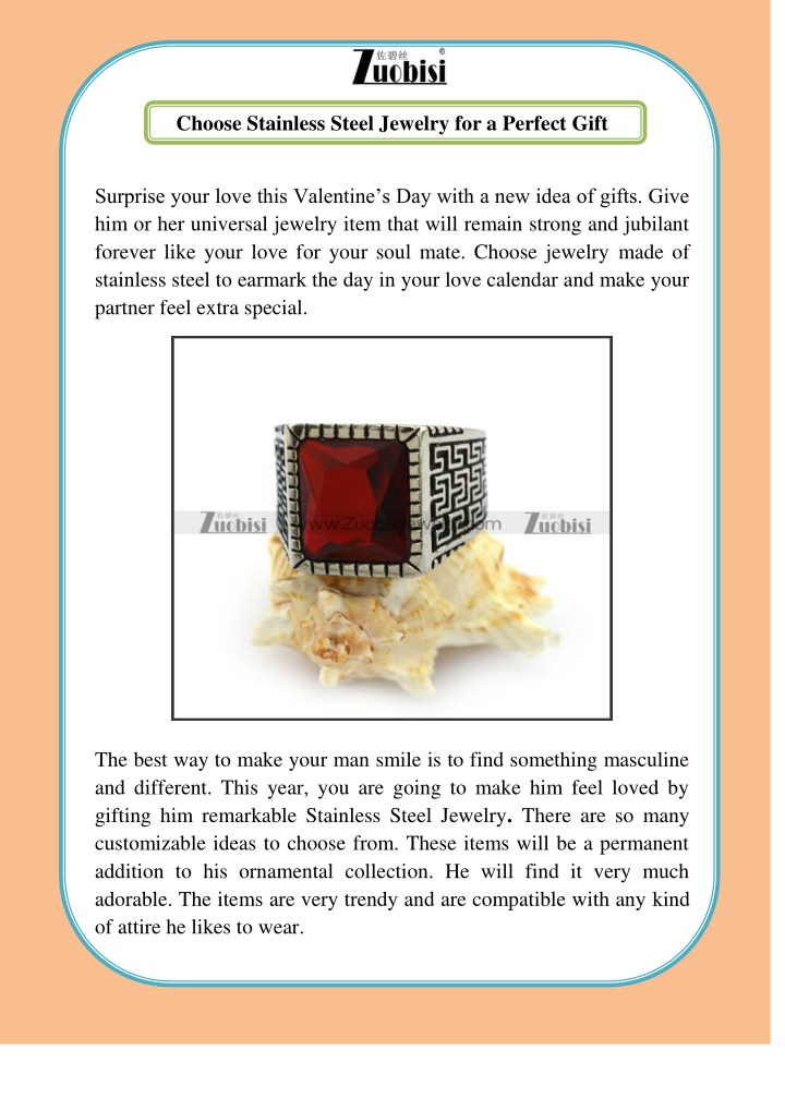 choose stainless steel jewelry for a perfect gift n.