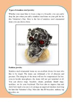 types of stainless steel jewelry