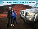 luxurious travel guide for iceland