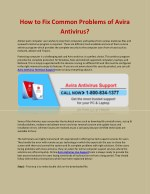 how to fix common problems of avira antivirus