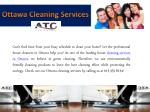 ottawa cleaning services