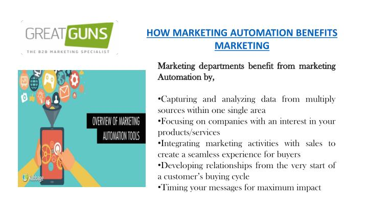 how marketing automation benefits marketing n.