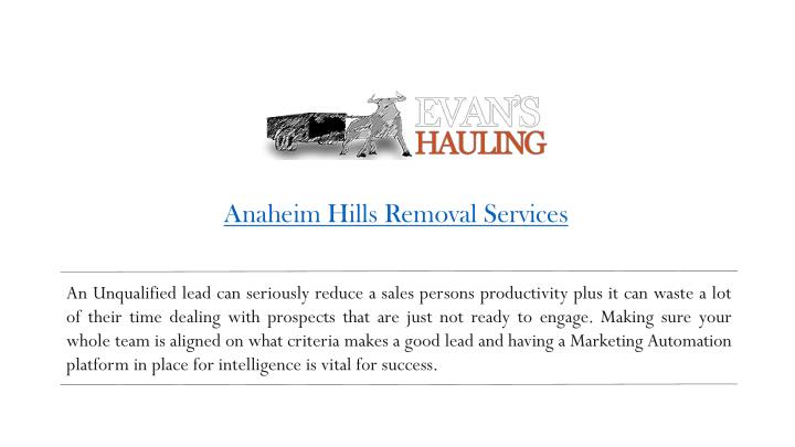 anaheim hills removal services n.