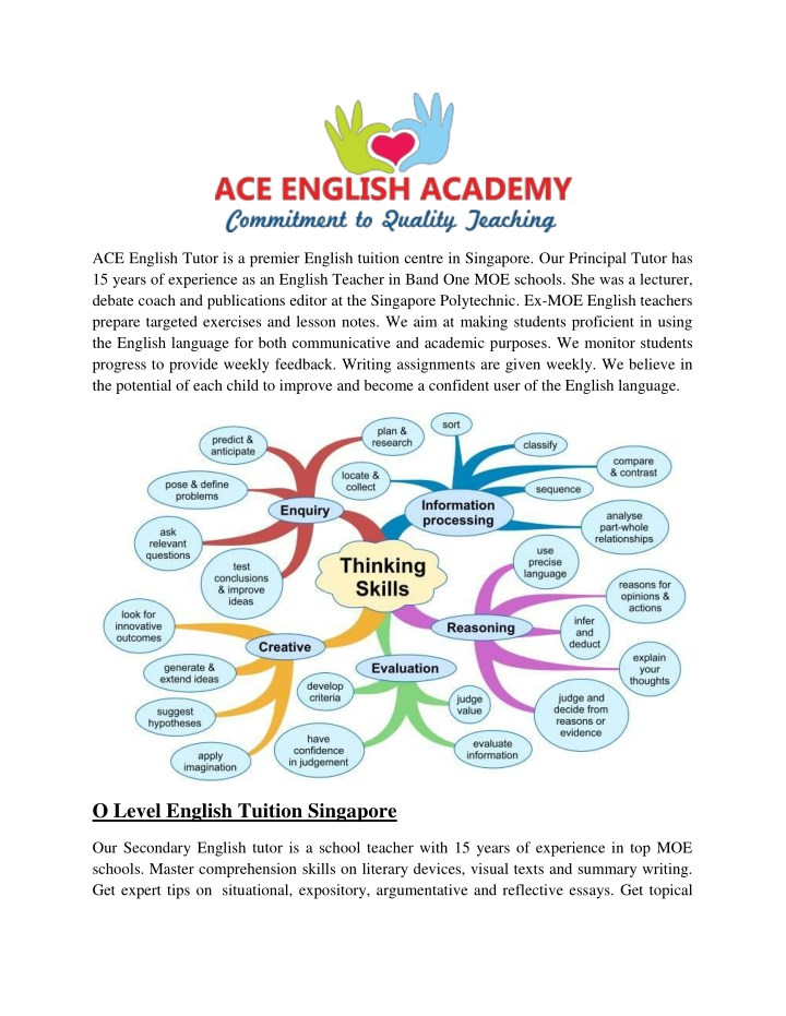 ace english tutor is a premier english tuition n.