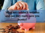 what are cashback websites and can they really