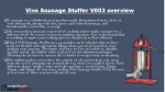 vivo sausage stuffer v003 overview