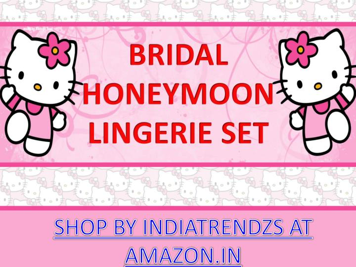 bridal honeymoon lingerie set n.