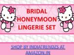 bridal honeymoon lingerie set