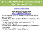 psy 435 homework successful learning 1